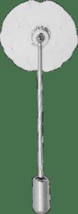 Silberfarbene Anstecknadel mit Schutzkappe