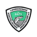 Gestickter Aufnäher des Landesverbandes Westfälischer Angelfischer im DAFV