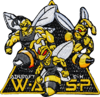 Gestickter Aufnäher WASP, lasergeschnitten