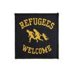 Gewebter Aufnäher Refugees Welcome