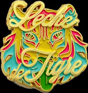 Ansteckpins Lech Tigre in Metallguss mit Softemaille