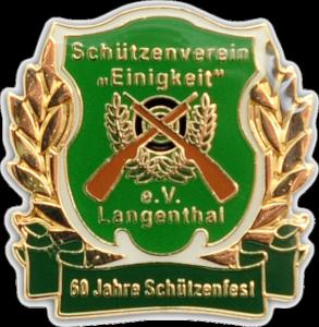Pin Schützenverein Einigkeit Langenthal in Softemaille