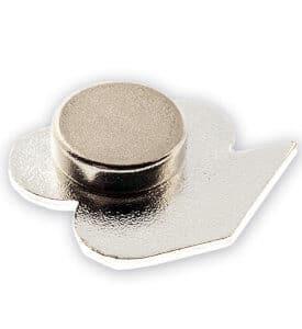 Rückansicht eines Magnetpins