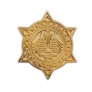 Vergoldeter Pin in Metallguss