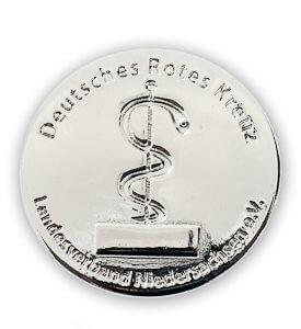 Silber vernickelter Pin