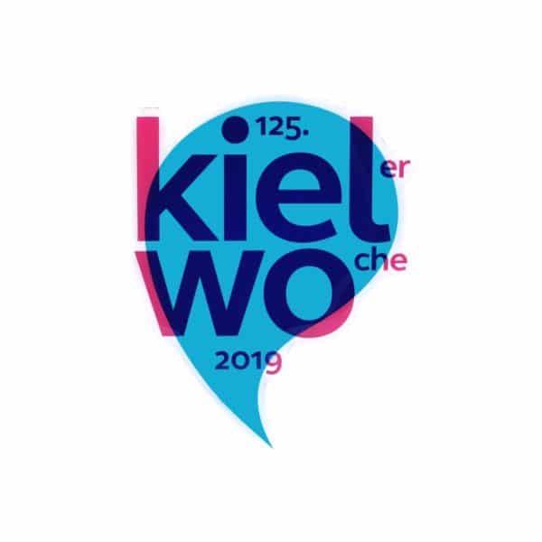Kühlschrankmagnet Kieler Woche 2019 in Siebdruck