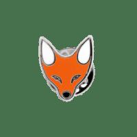 Ansteckpins Fuchs in Hartemaille