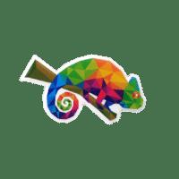 Pins Chameleon in Offsetdruck