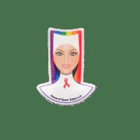 Ansteckpins Nonne in Offsetdruck