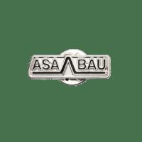 Pins ASABAU in Softemaille, silber vernickelt
