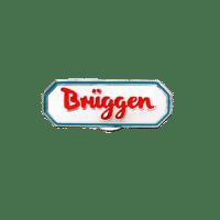 Ansteckpins Brüggen in Softemaille, silber vernickelt