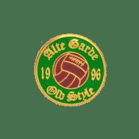 Pins Alte Garde Rapid, Hartemaille vergoldet