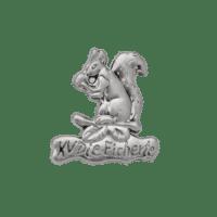 Pins Eichhörnchen, Metallguss in 3D