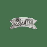 Pins Hubert, reliefgeprägt und antiksilber vernickelt