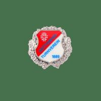 Pins Gettorfer Turnverein, Siebdruck mit Ehrenkranz