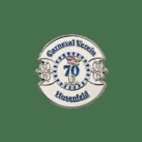 Pins 70 Jahre Carneval Verein Hosenfeld, Softemaille mit Strasssteinen