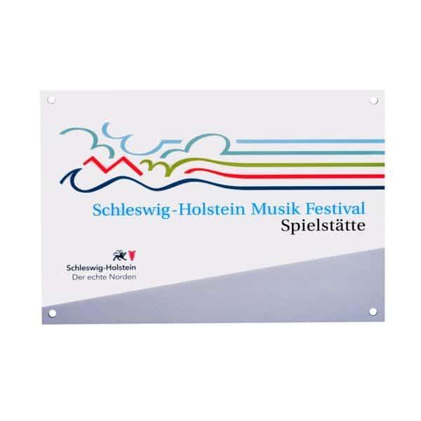 Plakette Schleswig-Holstein im Offsetdruck