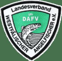 Gestickter Aufnäher Landesverband Westfälischer Angelfischer e.V.