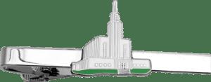 Krawattenklammer mit Kirche in Hartemaille