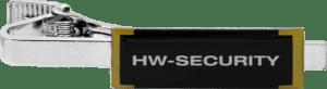 Krawatttenklammer HW-Security in Siebdruck
