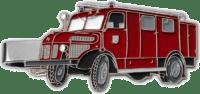 Krawattenklammer mit Feuerwehrauto in Softemaille