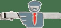 Silberne Krawattenklammer in Softemaille