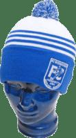 Gewebte und bestickte Wiesharde-Mütze mit Bommel