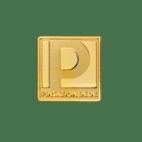 Sandgestrahlter und vergoldeter Pin von Pinsationen