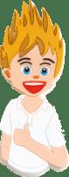 Pins Blonder Junge aus PVC