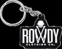 Schlüsselanhänger Rowdy Clothing Co. aus PVC