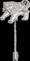 Anstecknadeln Panther - Metallguss in 3D