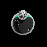 Rückseite eines runden Blinkpins