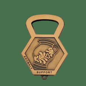 Antikvergoldeter Flaschenöffner Anomaly Support