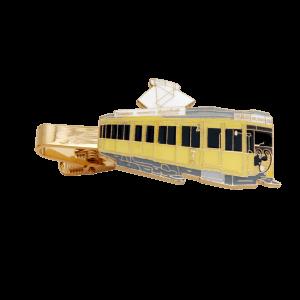 Krawattenklammern Straßenbahn in Softemaille