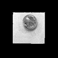 Versilberter Pin mit Butterflyverschluss