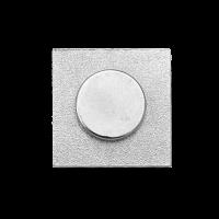 Versilberter Pin mit Magnet