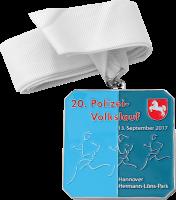 Medaille 20. Polizei-Volkslauf Hannover