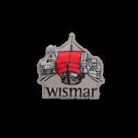 Pin Wismar im Siebdruck